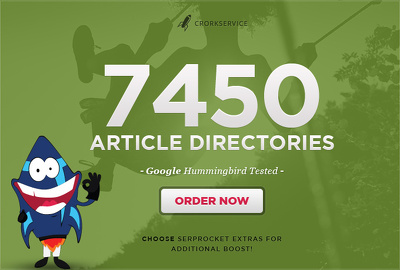 Spin and submit your article to 7450 Directories Get 500 Google Backlinks