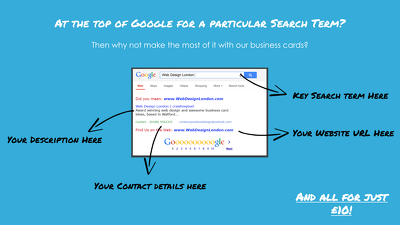 Design you a Google Inspired Business Card to show off your SEO