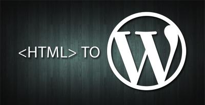 Convert static HTML site to Wordpress