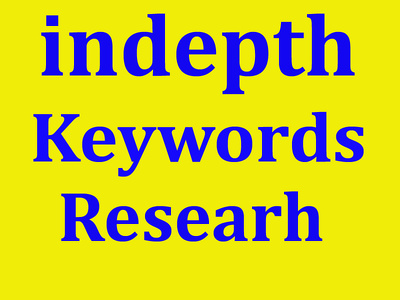 indepth keyword research and provide the best keywords for your niche or site