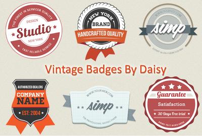 Design unique vintage badge