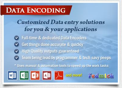 Encode & do data entry of your data