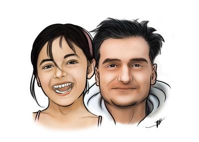 Create a digital portrait painting