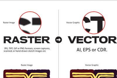 Convert raster or bitmap logo to vector