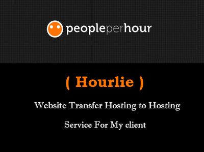 Transfer your site from one hosting to another
