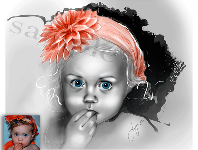 Draw portraits of family, children and pets.