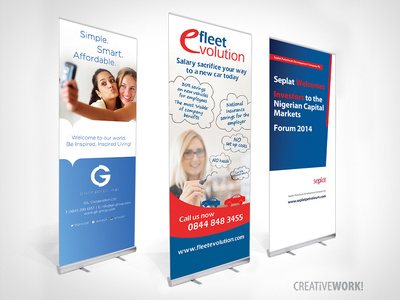 Design a roll up / pop up / pull up banner stand