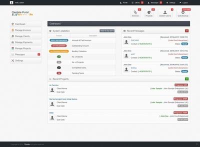 Deliver a client-management-invoice application