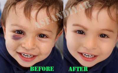 Photoshop - retouch skin - makeup 5 photos