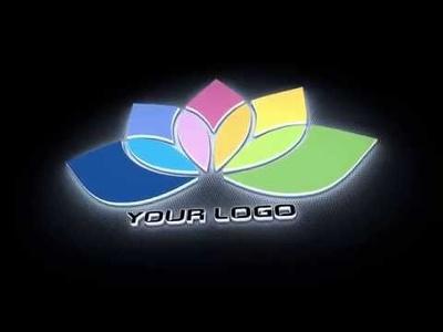 Create this light emitting 3D logo intro video