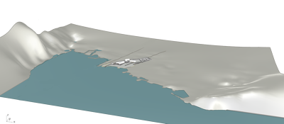 Model a terrain, with 3d surfaces in Rhinoceros
