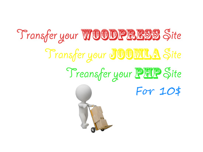 Transfer WordPress , ALL Open Source Application, PHP / HTML  websites to new hosting