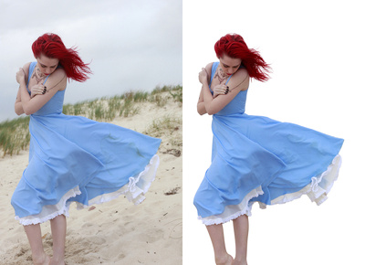 Professionally perform background removal to 10 photos within 24 hours