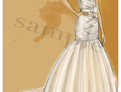 Draw picture of you in the wedding dress