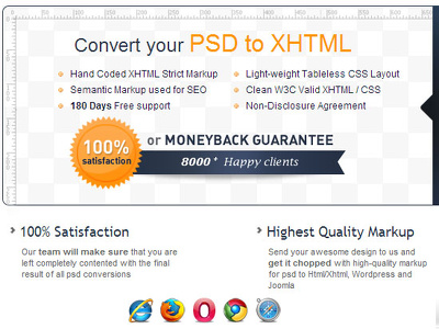 Convert a PSD webdesign into responsive webpage
