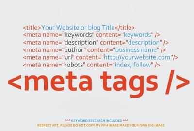 Create unique seo meta tags with keyword research for your website or blog