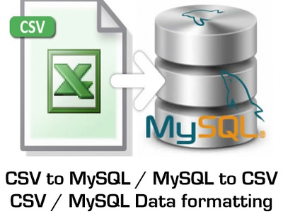 Import or export CSV data to and from MySQL