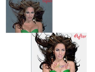 Change 10 pics portrait image background also retouching