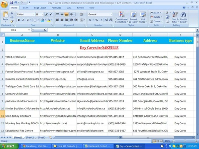 Collect upto 1000 business contact info/details