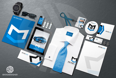 Design your full corporate identity with unlimited revisions