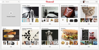 Create a bespoke pinterest page with 200 pins