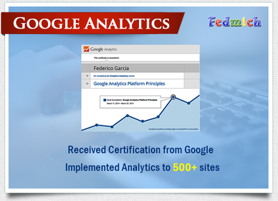 Install Google analytics & webmaster tools to your site