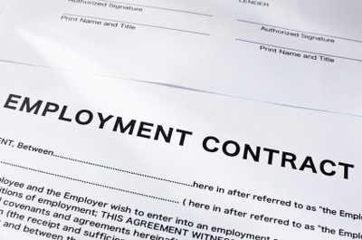 Write your staff employment contract template