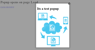 Create a Page Load and Clickable Fancybox Popup