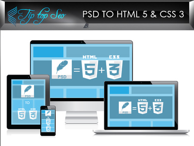 Convert PSD to responsive HTML5 & CSS3 (hand-coded) cross browser ,responsive, pixel