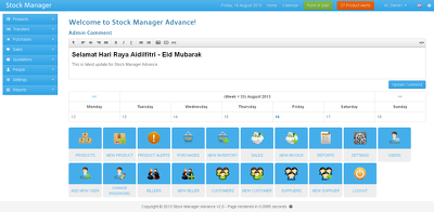 Develop an online responsive stock manager with point of sale module