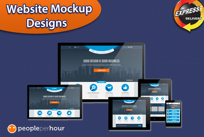 Provide a professional mock up web page design