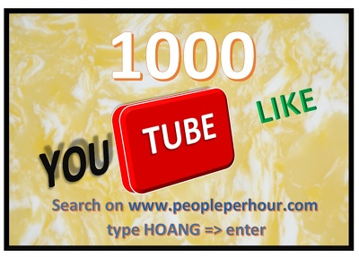 Give you 1000 youtube likes to your video (Get more Service with Hourlie Add-ons)
