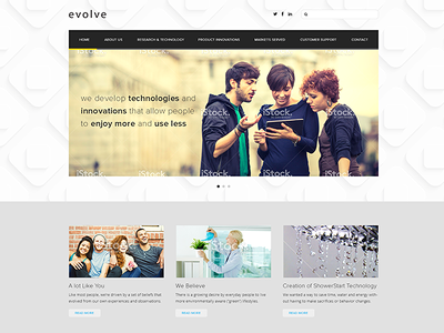 Design a fresh, clean & modern website (PSD) with up to 4 inner pages