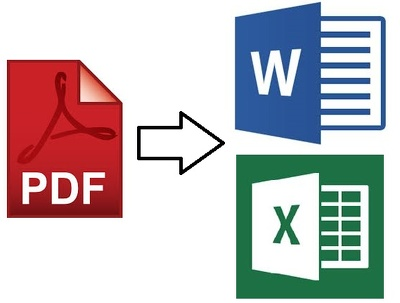 Convert PDF files to Word or Excel files