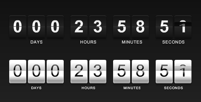 create timer and countdown in any format of date & time for websites auctions, events