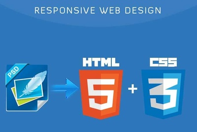 Convert your PSD to a responsive HTML5,CSS3 webpage using Bootstrap or Foundation