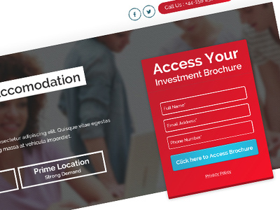 Design a High Conversion Landing Page PSD Only