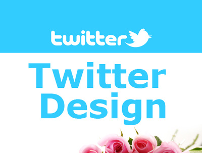 Design twitter background or twitter banner