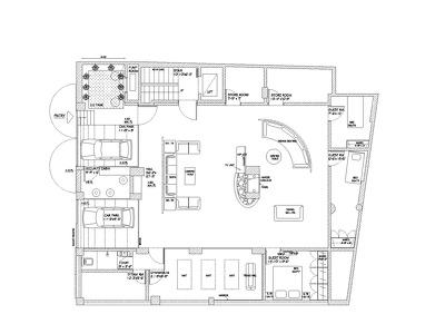 Design a 2D floor plan in AutoCAD format