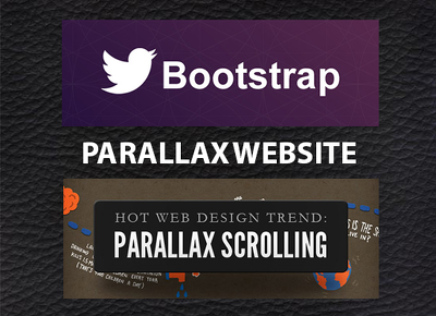 Design one page responsive parallax website (by html5 / css3)
