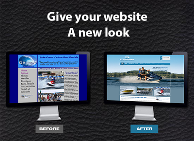 Make your old website modern, responsive with attractive look