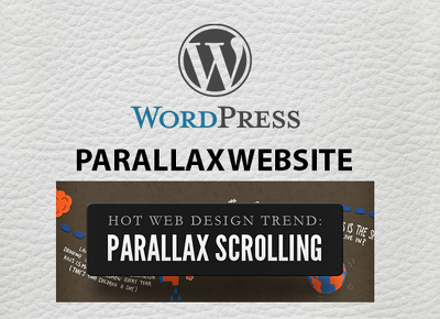 Create responsive wordpress parallax scrolling website (one page)