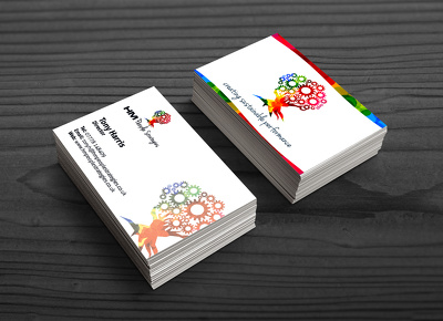 Design 6 engaging and visually effective business card concepts