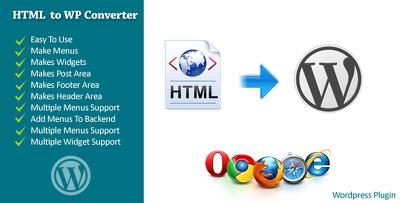 Convert HTML theme to Wordpress Theme.
