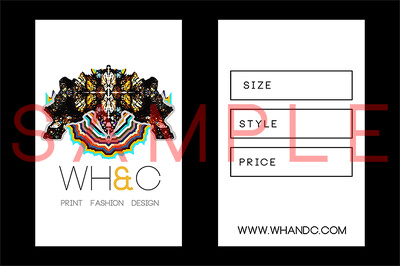 Design a bespoke swing tag for clothing
