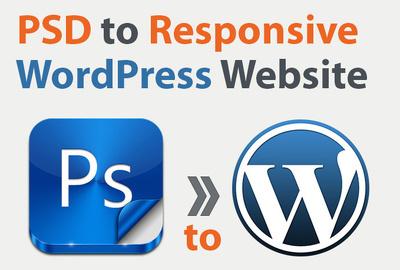 Convert PSD/AI/HTML to Responsive Wordpress website
