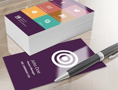 Design modern flat business card