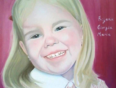 Paint an oil portrait from your photograph 30x30cm