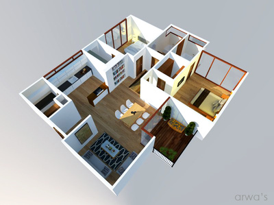 Design the full interior of your apartment provide you with high quality 3d floorplan