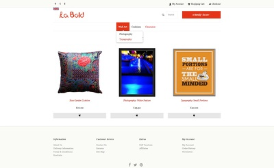 Design and create a bespoke eCommerce website